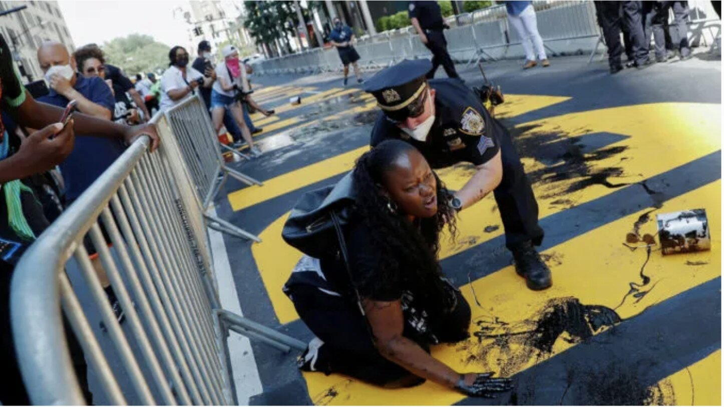 Christian Activist Bevelyn Beatty Throws Paint On De Blasio's 'Black Lives Matter' Mural