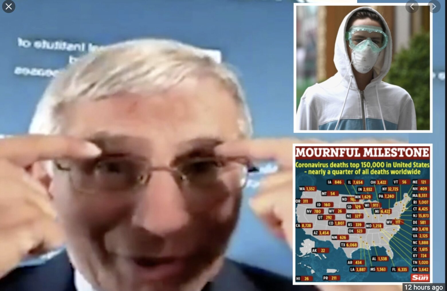 They're f*ing with you SHEEP: Dr. Fauci: Wear goggles or eye shields to prevent spread of COVID-19; flu vaccine a must