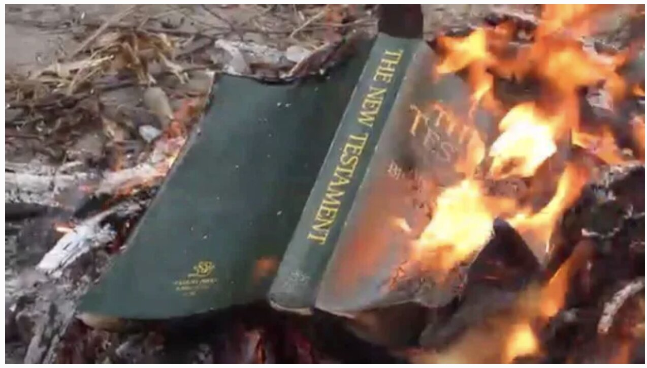 Portland Antifa Rioters Are Now Burning Bibles, US Flags and Animals In The Street