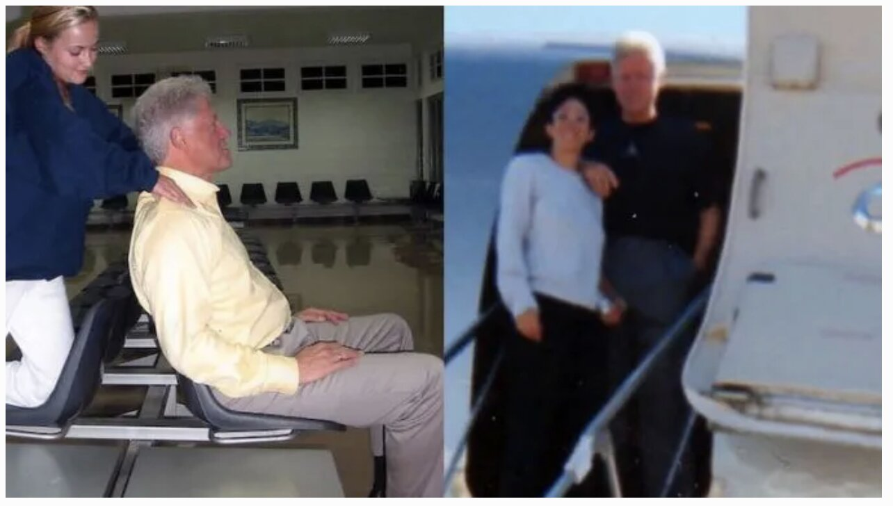 The DEMONcrats are DONE: Leaked Pics Show Bill Clinton Receiving 'Massage' From Pedophile Epstein's Sex Slave