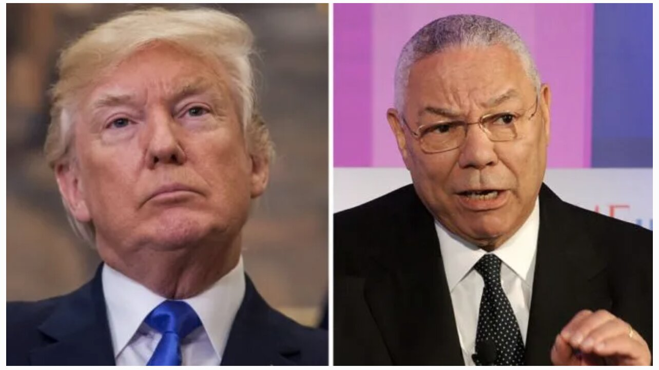 Trump Retweets Post Calling Colin Powell A 'WMD Hoaxer' & Biden A 'Puppet'