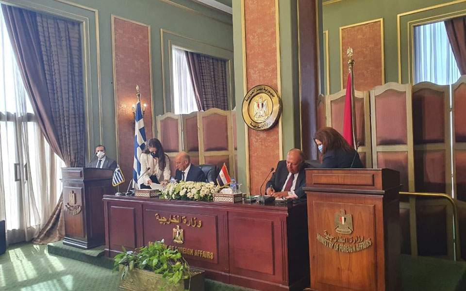 Egypt and Greece sign agreement on exclusive economic zone, Egyptian FM says