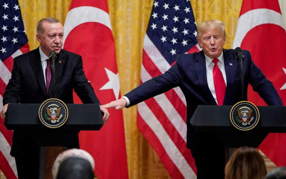 Trump says he has a great relationship with Erdogan and let him take care of the border with Syria