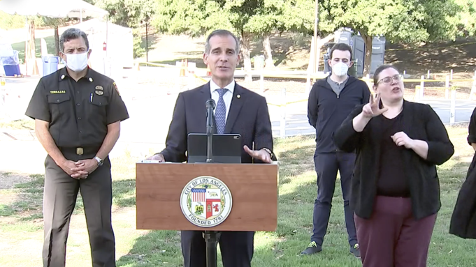 Mayor Eric Garcetti Says DWP Will Shut Off Water And Power At Homes That Throw Large Parties