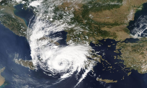 Greece lashed by rare hurricane-force storm