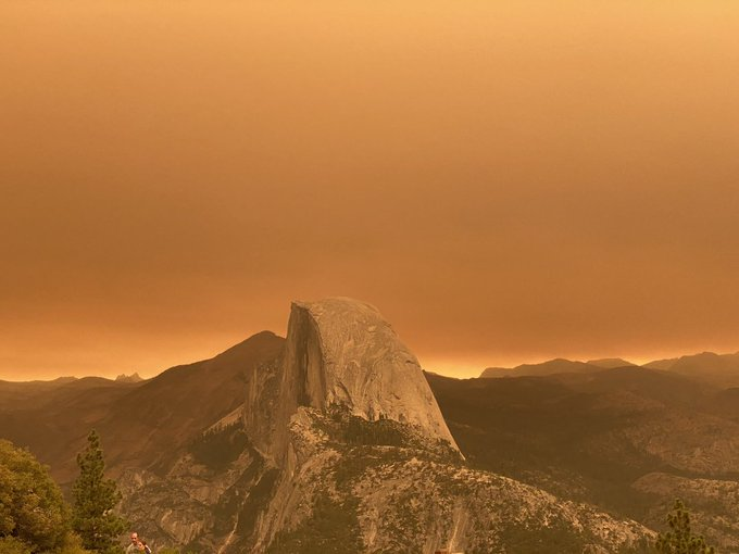 'Sunset on Mars.' Smoke from California fires gives national parks 'apocalyptic' glow