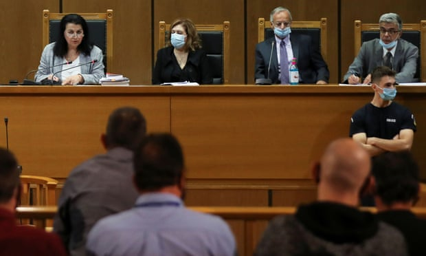 """A complete GREEK PARDOY of """"Justice"""": Neo-Nazi leaders of Greece's Golden Dawn sentenced to 13 years."""