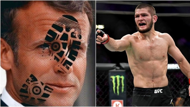 "Erdogan fan Khabib goes…JIHADI on Macron!!!! Calls him 'scum' and calls for the ""disfigurement' of French president's face!!!"