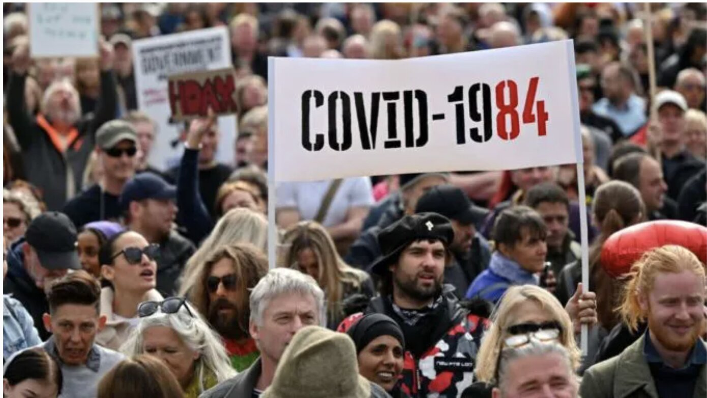 'Shove Your New World Order Up Your A**': Thousands Protest Covid 'New Normal' In London