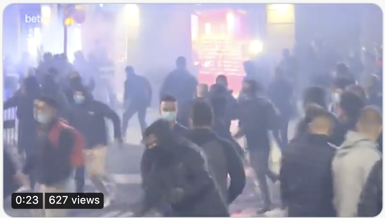 HAPPENING NOW – Growing anti-lockdown protests spiraling out of control in #Barcelona, Spain.