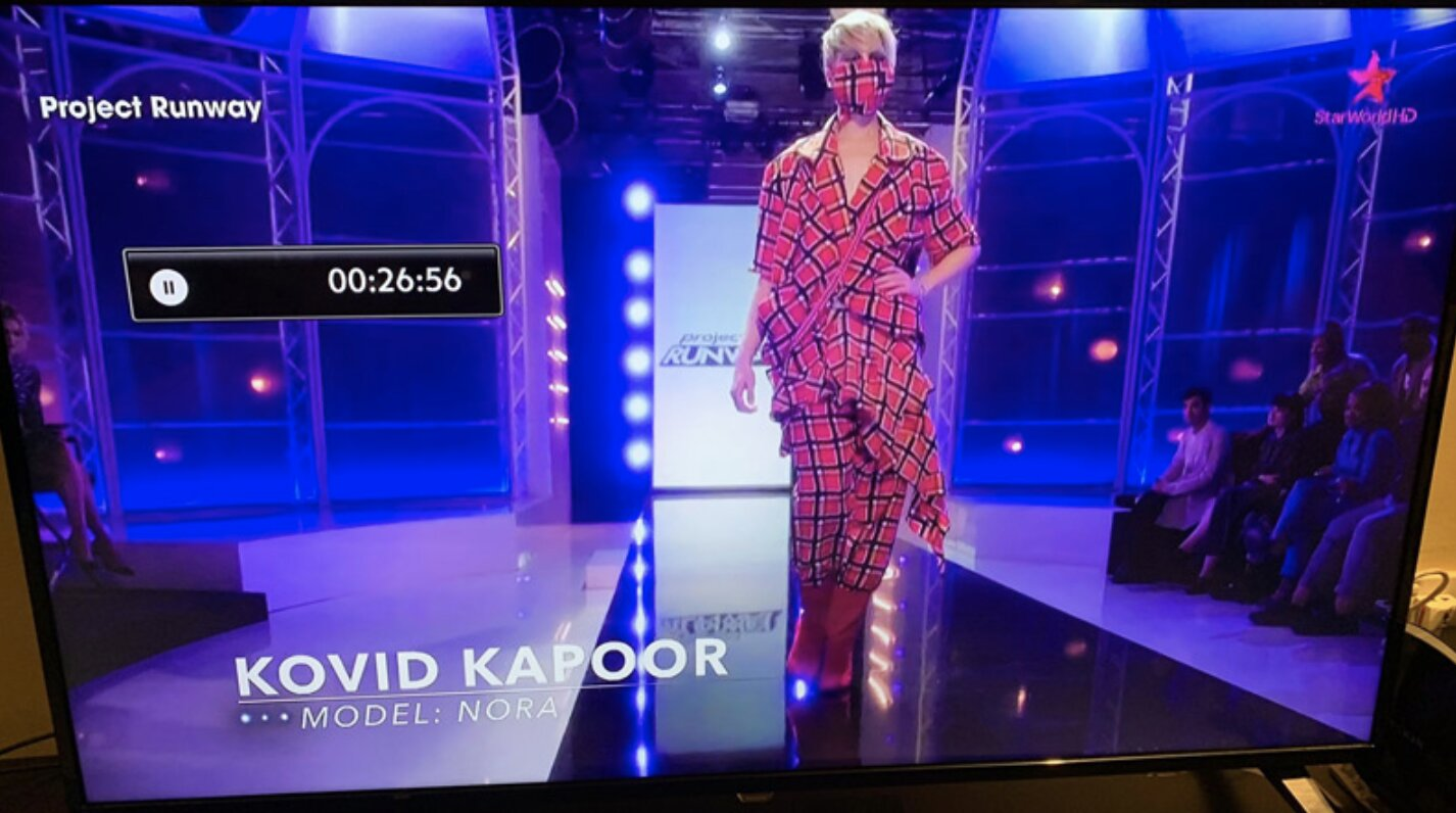 "Bizarre: Project Runway Contestant Named ""Kovid"" Designed Face Mask Outfit in 2019"