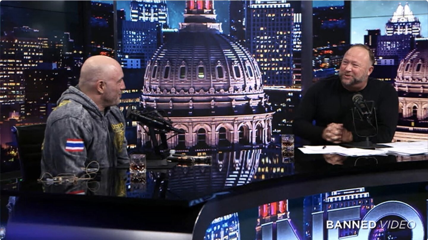 BREAKING: Joe Rogan Sits Down For Interview On The Alex Jones Show to basically…B/S a bunch of people…