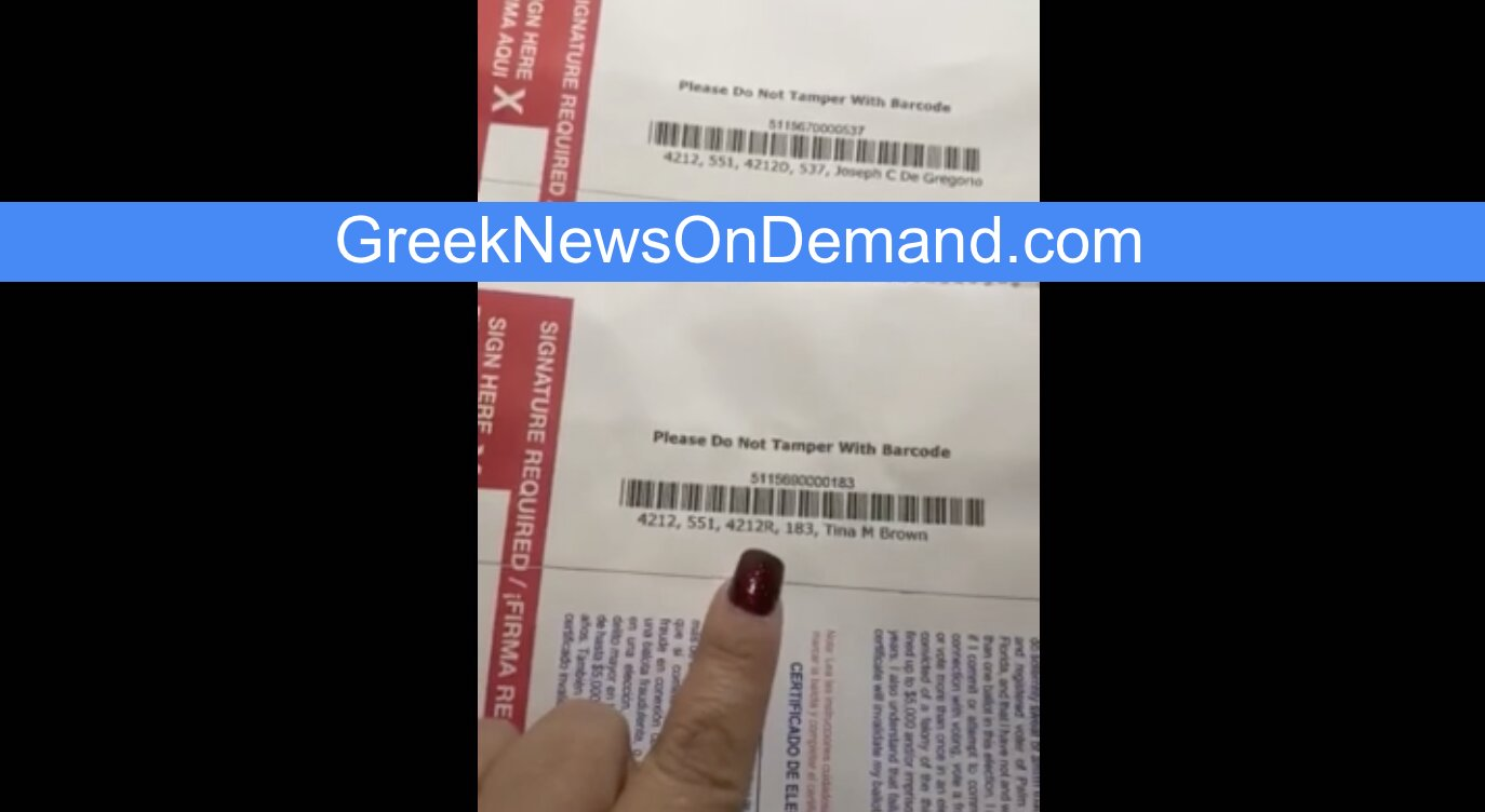 2020 Elections: Mail-in ballot envelopes ILLEGALLY indicate voters' parties (Dems or Repubs) on the OUTSIDE of them!!!