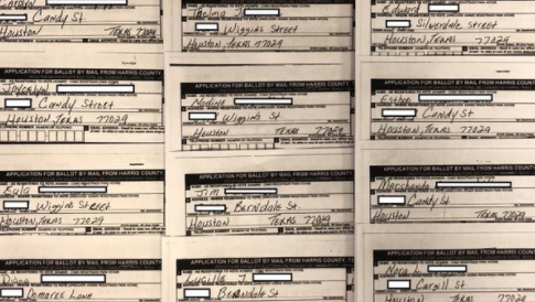 VOTER FRAUD ON DISPLAY: Houston Ballots All Have Same Signature and Same Address