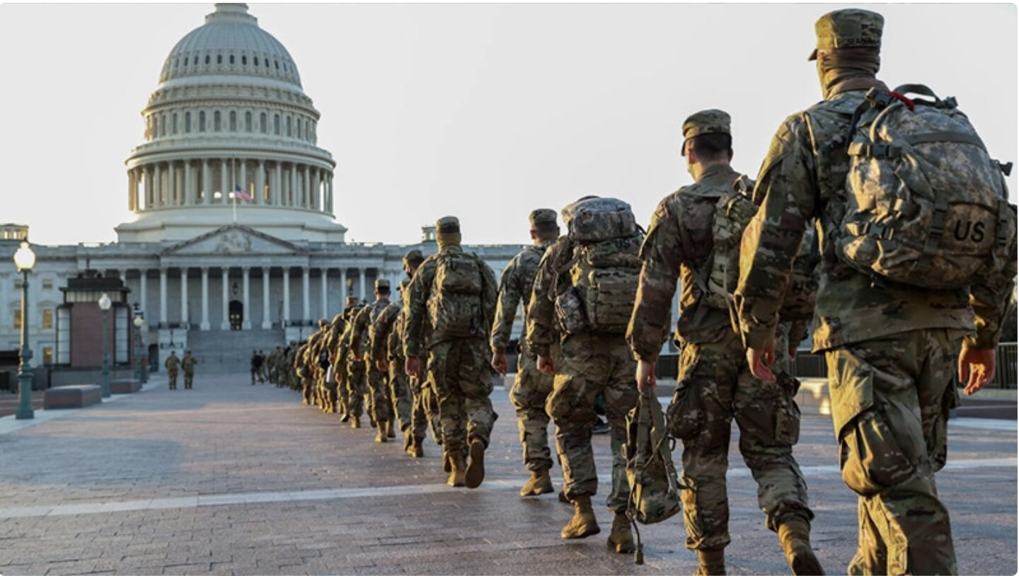 US military chiefs condemn Capitol riot as 'sedition' & urge troops to 'stay ready' ahead of inauguration in rare political letter