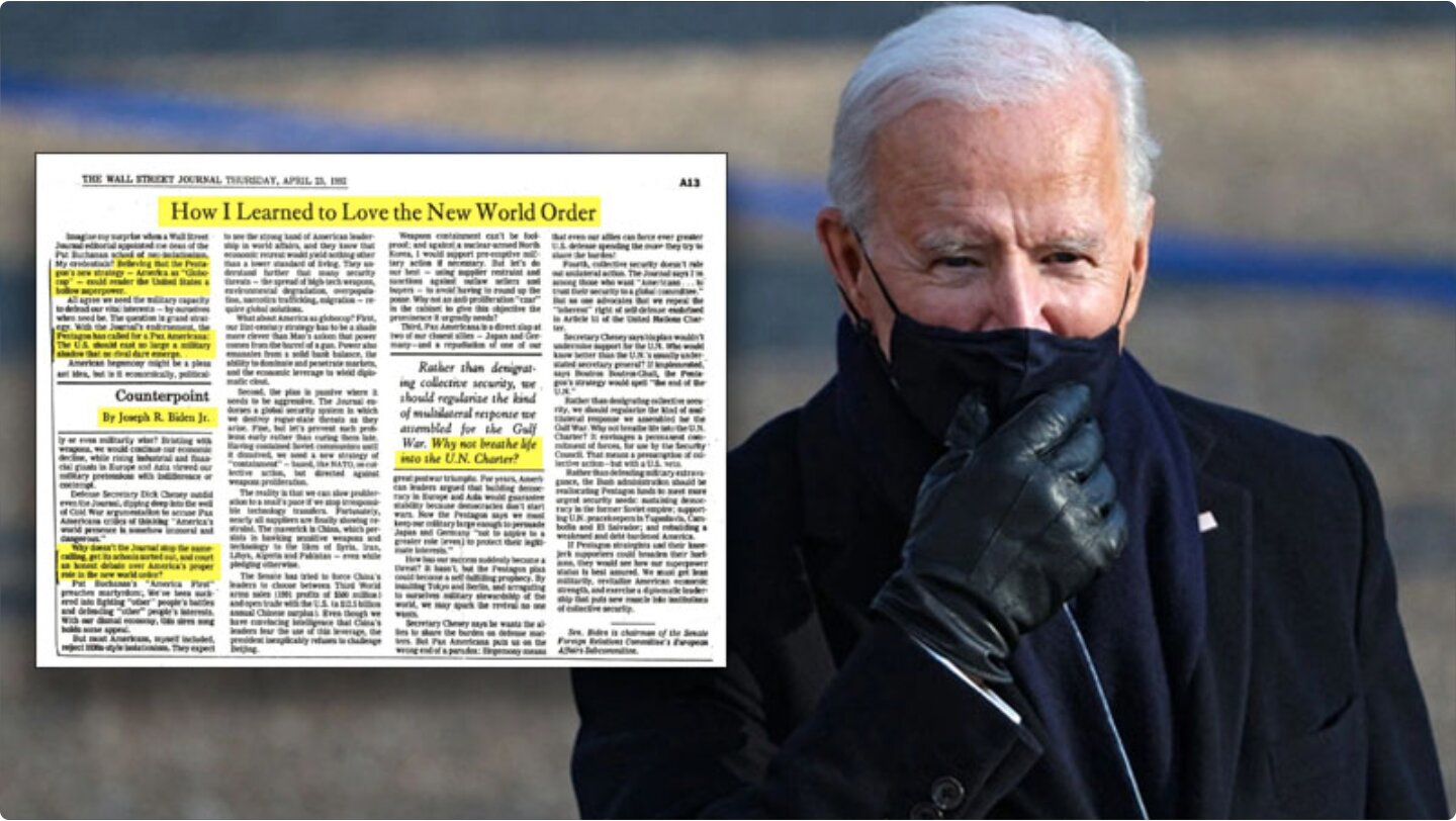 Joe Biden Pledges Allegiance to the New World Order In 1992 Article