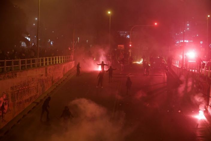 Clashes break out in Greece after march against police violence