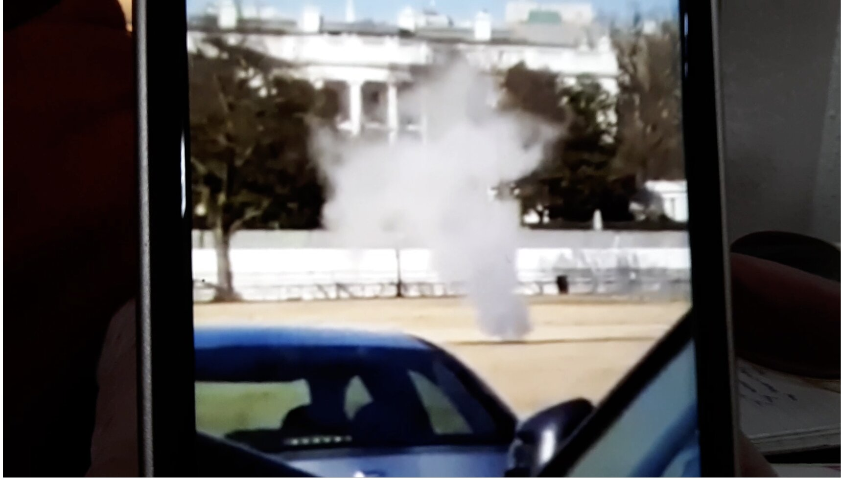 Smoke Barreling Out of White House Lawn in Several Places as DC Is a Ghost Town