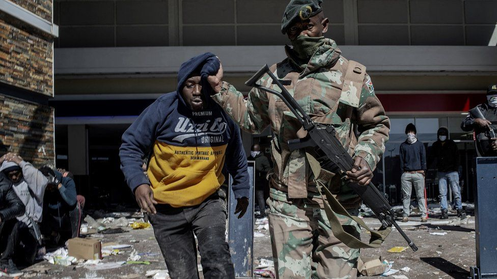 South African Army 'Activates' All Reserve Members Amid WorseningSocial Unrest