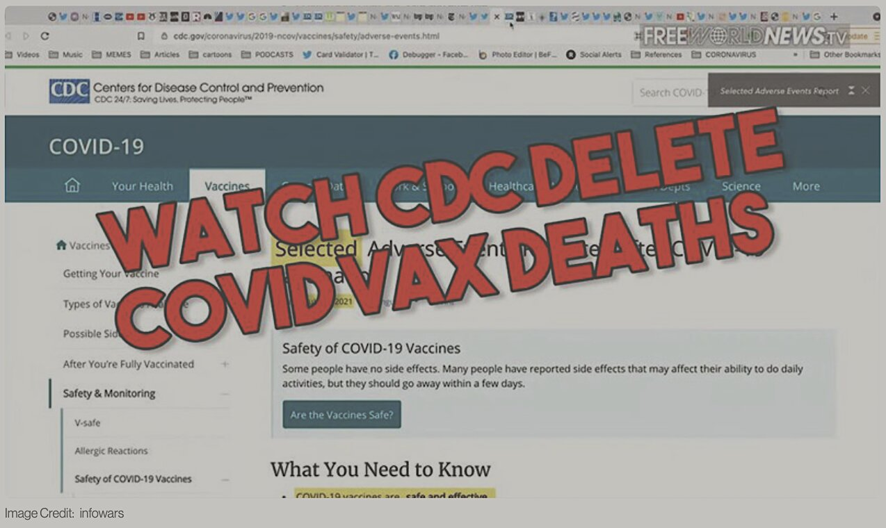 Caught! CDC Deletes Thousands Of COVID Vaccine Deaths
