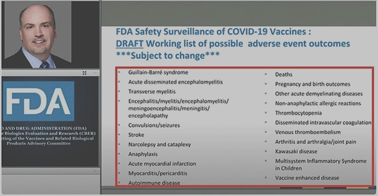 Oops! FDA Accidentally Reveals List of Covid Vaccine Side Effects, Including Myocarditis, Autoimmune Disease & Death
