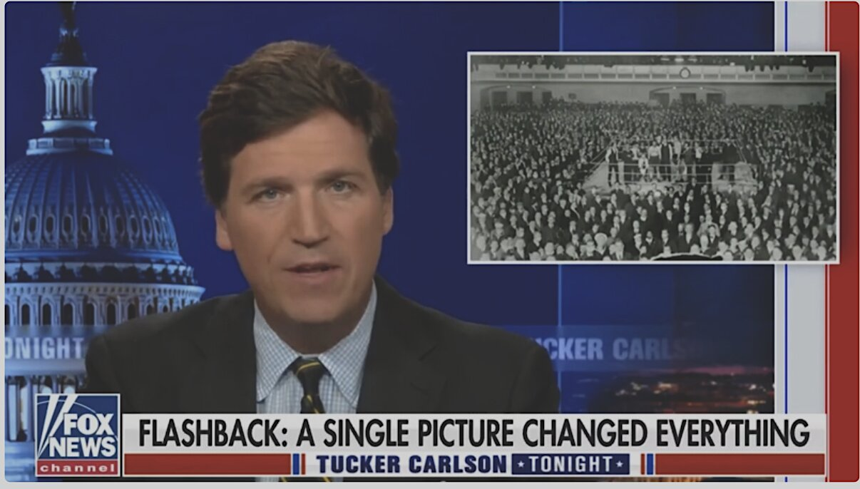 Tucker Carlson Reveals Photo That Ended 1918 Mask Mandate