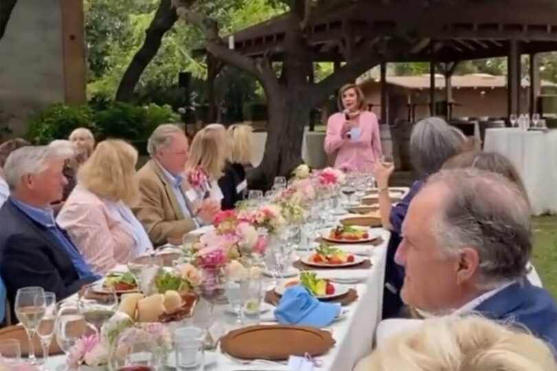 Video Shows Hordes Of Maskless 'Elites' At Pelosi Fundraiser, While She Wants To Lock Us Down