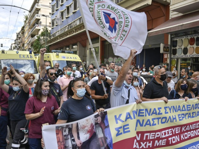 Nearly 6,000 Greek Hospital Workers Suspended for Not Getting Vaccine