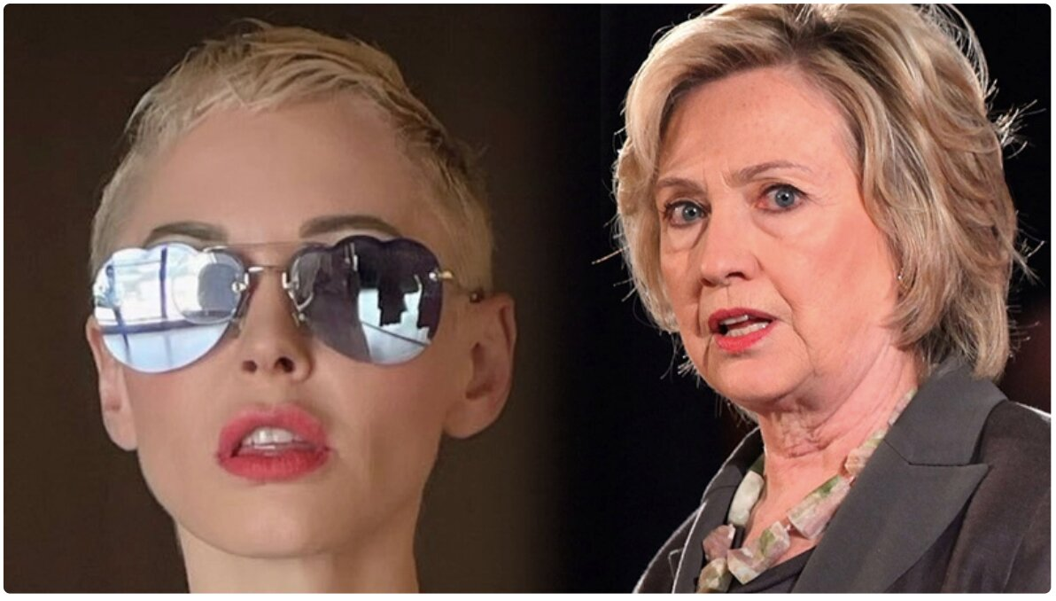 """Actress Rose McGowan Vows to Bring Down """"Evil"""" Clintons"""