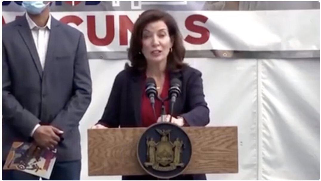 Video: NY Governor Says Unvaxxed Health Workers Will Be FIRED, Replaced With NATIONAL GUARD Soldiers