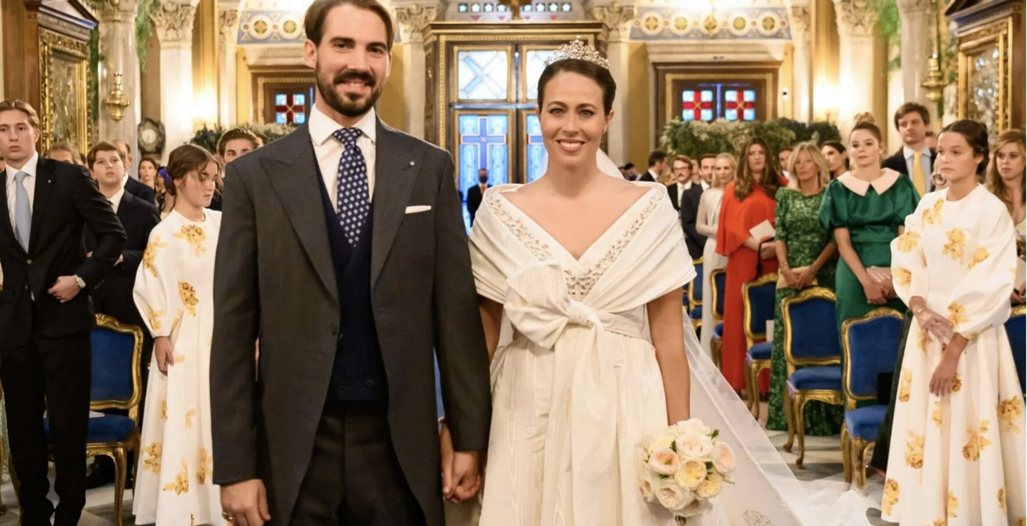 Prince Philippos and Princess Nina of Greece Marry in Athens – ZERO masks and social distancing – Double standard for the Elite